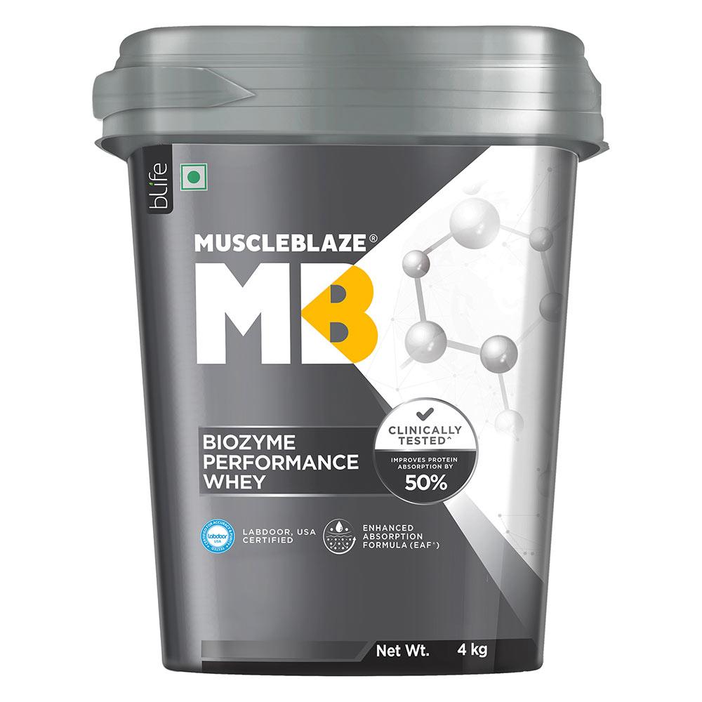 2 - MuscleBlaze Biozyme Performance Whey,  8.8 lb  Rich Chocolate