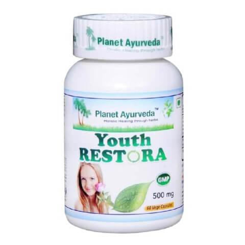 Planet Ayurveda Youth Restora (500 mg),  60 veggie capsule(s)