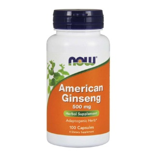 Now American Ginseng (500mg),  100 capsules