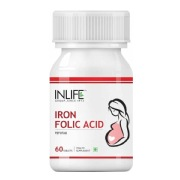 INLIFE Iron + Folic Acid,  Unflavoured  60 tablet(s)
