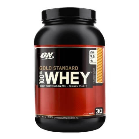 ON (Optimum Nutrition) Gold Standard 100% Whey Protein,  2 lb  Strawberry Banana