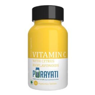 Purayati Vitamin C with Citrus Bioflavonoids,  Unflavoured  90 tablet(s)