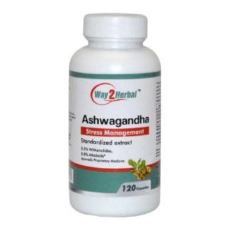 Way2Herbal Ashwagandha,  120 capsules