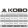 KOBO Back Support Weight Lifting Gym Belt (WTB-03),  Black  Small