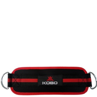 KOBO D-Ring Ankle Strap (WTA18),  Black & Red  Free Size