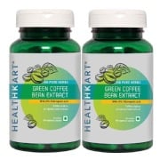 HealthKart Green Coffee Bean Extract 90 capsules   Pack of 2