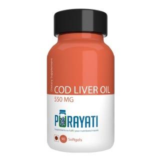Purayati Cod Liver Oil (550 mg),  90 softgels
