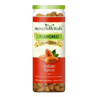 NourishVitals Roasted Almonds,  Indian Spice  0.150 kg