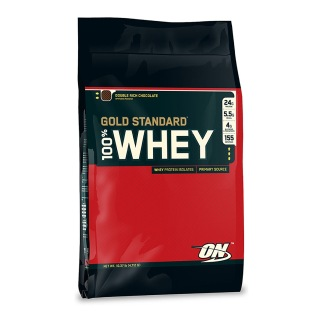 ON (Optimum Nutrition) Gold Standard 100% Whey Protein,  Double Rich Chocolate  10 Lb