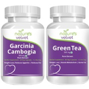 Natures Velvet Pure Extract Garcinia Cambogia + Green Tea (500mg),  120 capsules  Unflavoured