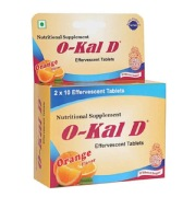 Okal D Calcium and Vitamin D3,  Orange  20 tablet(s)