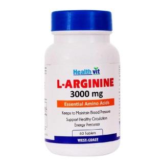 Healthvit L-Arginine (3000 mg),  60 tablet(s)