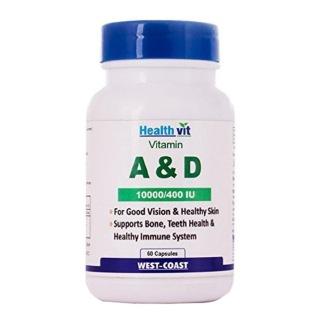 Healthvit Vitamin A & D (10000/400 IU),  60 capsules  Unflavoured
