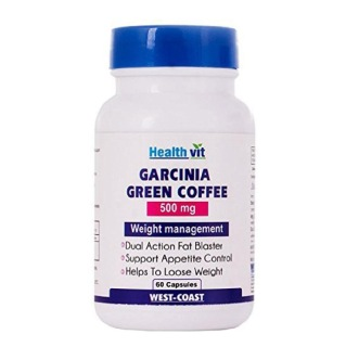 Healthvit Garcinia Green Coffee (500 mg),  60 capsules  Unflavoured