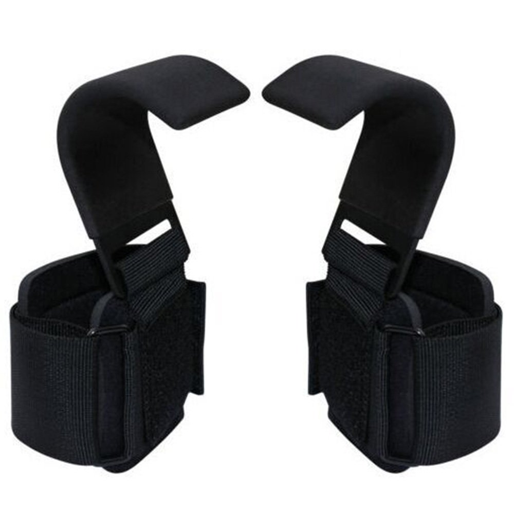KOBO Gym Straps Hook Bar With Padded Wrist Support , Black Free Size online in India | Healthkart.com
