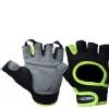 KOBO Gym Gloves (WTG-03),  Florocent Green & Black  Small