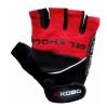 KOBO Gym Gloves (WTG-04),  Red & Black  Small