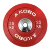 KOBO Bumper Plates 51mm,  Red  25 kg