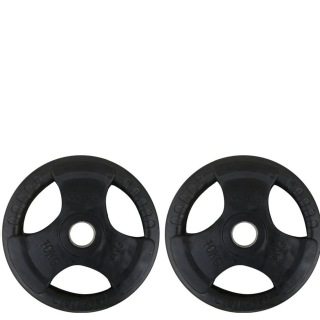 KOBO Premium Quality Rubber Coated Olympic Plate 51mm,  Black  10 kg