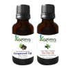 Kazima Grape Seed & Tea Tree Oil (Each 15 ml) Combo,  2 Piece(s)/Pack  All Type Hair