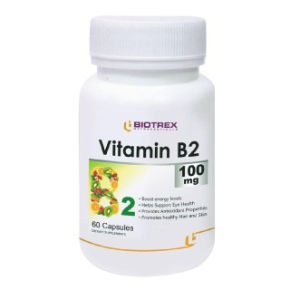 Biotrex Vitamin B2 (100 mg),  60 capsules  Unflavoured