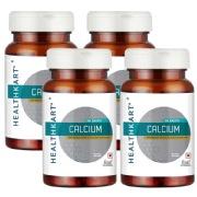 HealthKart Calcium Unflavoured 60 capsules   Pack of 4