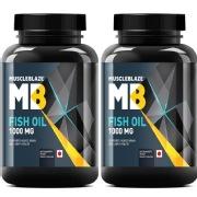 MuscleBlaze Fish Oil  1000 mg  90 softgels   Pack of 2