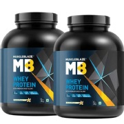 MuscleBlaze Whey Protein  Vanilla  Pack of 2