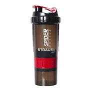 Strauss Spider Shaker Bottle, Red 500 ml