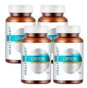 HealthKart Caffeine 200 mg 90 capsules Unflavoured   Pack of 4
