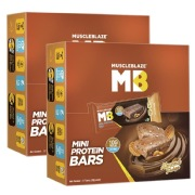 MuscleBlaze Mini Protein Bar  10g Protein , 12 Piece s /Pack Almond Fudge   Pack of 2