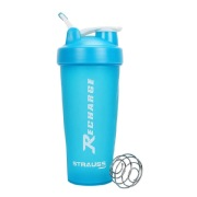 Strauss Recharge Shaker Bottle, Blue 600 ml