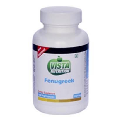 Vista Nutrition Fenugreek,  180 capsules