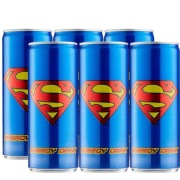 Superman Energy Drink 250 ml Apple Pack of 6