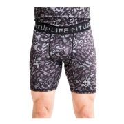 Fitup Life Printed Men Compression Gym Shorts  Medium Multicolor