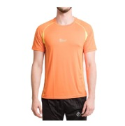 Fitup Life Solid Men Round Neck Reversible T Shirt, Orange Small