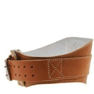 Schiek Leather Padded Contour Belt 6 Inch,  Brown  Xtra Large
