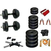 Body Maxx Adjustable Dumbbells Combo with Gym Exercise Sets Accessories