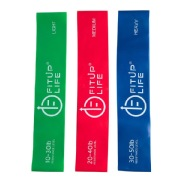 Fitup Life 3Pcs Resistance Loop Bands for Different Strengths Fitness Band, Blue, Red, Green Light Medium and Heavy