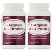 GNC L Arginine   L Citrulline 120 caplets Unflavoured Pack of 2