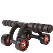 Fitsy Ab Roller 4 Wheel, Black Standard