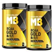 MuscleBlaze BCAA Gold 8:1:1 0.99 lb Green Apple   Pack Of 2